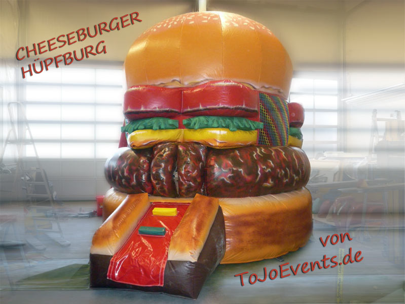 Hüpfburg Cheeseburger