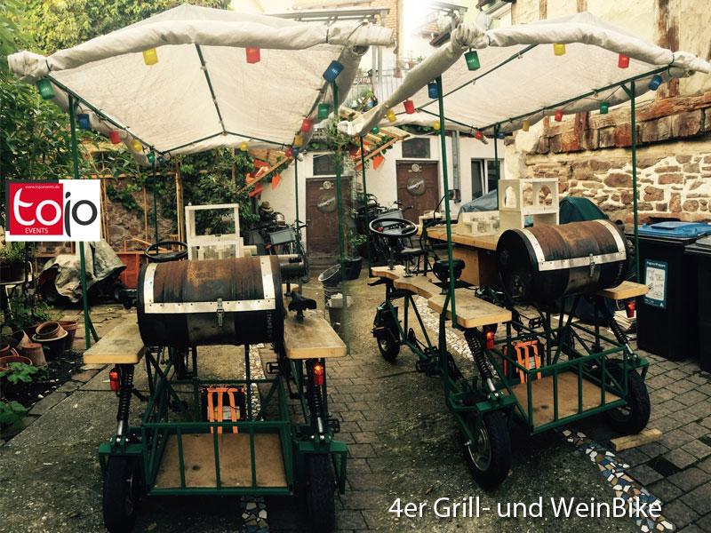 4er-Grill- und WeinBike mieten