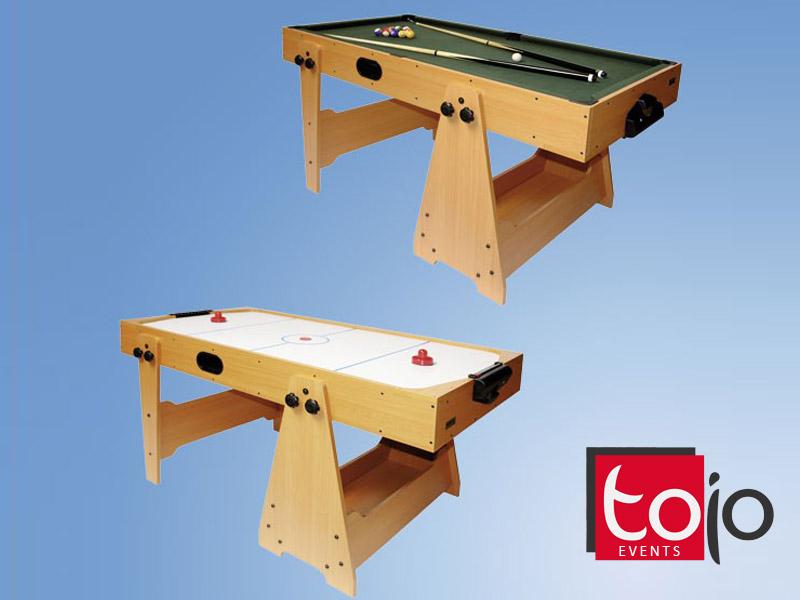 Airhockey und Billardtisch