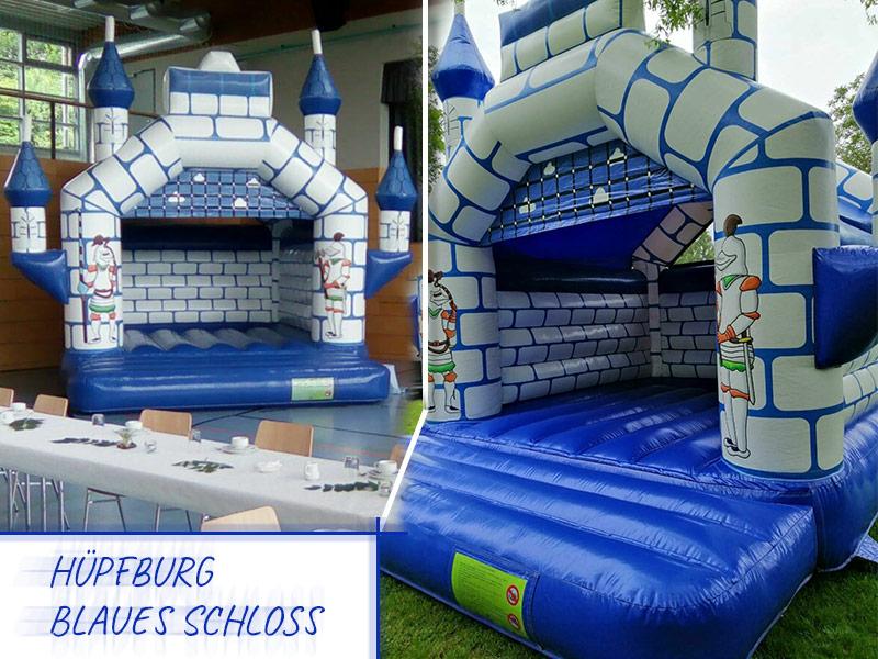 Hüpfburg blaues Schloss